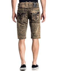 Rock Revival Bolton 23 Outseam Twill Shorts - Natural