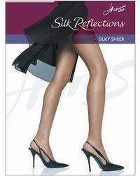 Hanes Silk Reflections Silky Sheer Reinforced Toe Pantyhose - Multicolour