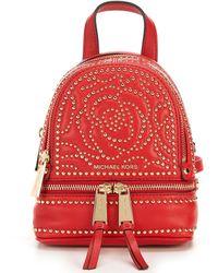 9353f0e998d0 MICHAEL Michael Kors - Rhea Extra Small Studded Messenger Backpack - Lyst