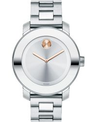 Movado Bold - Mid-size Stainless Steel Analog Bracelet Watch - Lyst