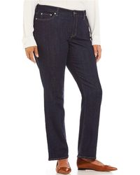 96dc534e779 Lyst - Lauren By Ralph Lauren Super Stretch Slimming Modern Skinny ...