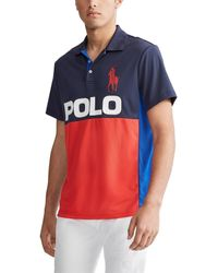 Polo Ralph Lauren - Big & Tall Multi-color Tech Pique Big Pony Short-sleeve Polo Shirt - Lyst