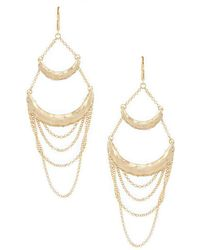 Belle By Badgley Mischka - Double Bar Chain Drop Statement Earrings - Lyst