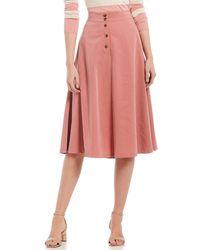 b863dcc77ca8 Ganni Bartlett Georgette Skirt in Black - Lyst