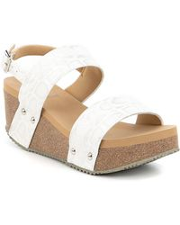 Volatile - Summer Love Banded Sling Wedge Sandals - Lyst