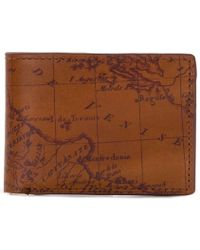 Patricia Nash Nash Map Double Billfold Id Wallet - Brown