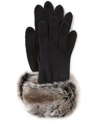 Parkhurst Faux-fur-cuff Gloves - Brown
