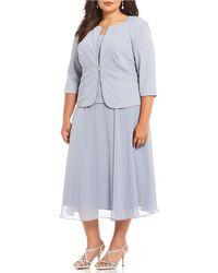 Alex Evenings - Plus Size A-line 2-piece Jacket Dress - Lyst
