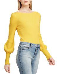 Lauren by Ralph Lauren - Puffed-sleeve Sweater - Lyst