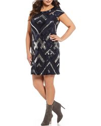 Vince Camuto - Plus Size Sequin Bodycon Dress - Lyst