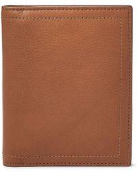 Fossil - Rfid Leather Passport Case - Lyst
