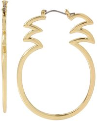 Betsey Johnson - Pineapple Hoop Earrings - Lyst