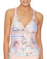 Next By Athena - Wanderlust Printed Twist Tankini Swimsuit Top - Lyst