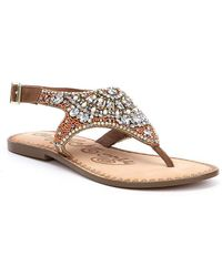 Naughty Monkey - Ice Berg Jeweled Sandals - Lyst