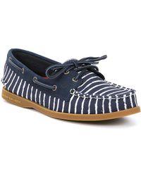 Sperry Authentic Original Indigo Stripe Boat Shoes URYQXL