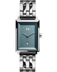 MVMT Signature Square Skylar Stainless Steel Bracelet Watch 24mm - Metallic