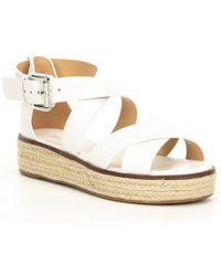 5d9aae5d8ce MICHAEL Michael Kors - Women s Darby Leather Espadrille Sandals - Lyst
