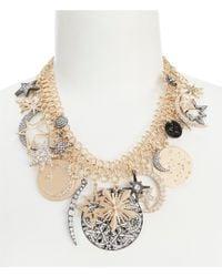 Belle By Badgley Mischka - Celestial Charm Statement Necklace - Lyst