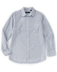 Cremieux - Medallion Print White Long-sleeve Woven Shirt - Lyst