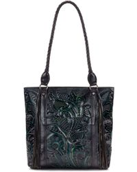 Patricia Nash - Rena Burnished Tooled Leather Tote - Lyst