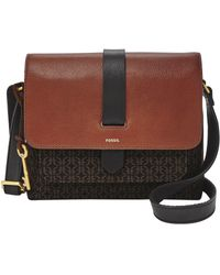 Fossil Kinley Zip Top Small Crossbody Bag - Brown