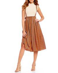 Gianni Bini - Lee Pinnafore Western Inspired Midi Dress - Lyst