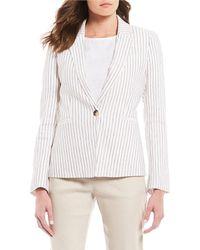 Antonio Melani - Willow Striped Linen Button Front Jacket - Lyst