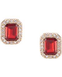 Lauren by Ralph Lauren Post Stone Stud Earrings (red) Earring