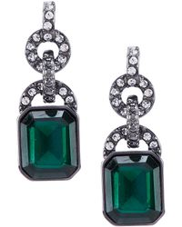 Lauren by Ralph Lauren - Emerald Green Stone Drop Earrings - Lyst