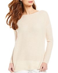 J.McLaughlin - Kingsly Long Sleeve Boat Neck Sweater - Lyst