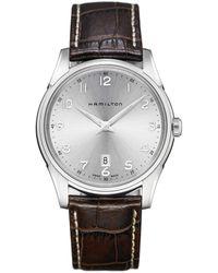 Hamilton - Jazzmaster Thinline Analog & Date Leather-strap Watch - Lyst