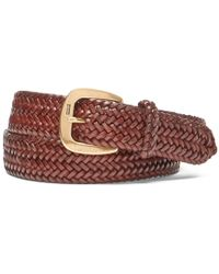 Polo Ralph Lauren - Derby Braided Leather Belt - Lyst