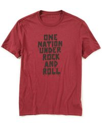 John Varvatos - Star Usa One Nation Under Rock And Roll Short-sleeve Tee - Lyst