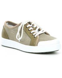 Alegria Traq Lace Up Sneaq Sneaker - Natural