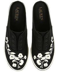 Lauren by Ralph Lauren - Jaida Ii Floral Embroidered Slip-on Sneakers - Lyst