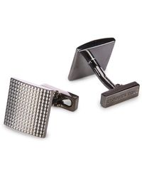 Kenneth Cole Grid Cuff Links - Multicolor