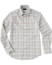 Thomas Dean Check Long-sleeve Woven Shirt - Yellow
