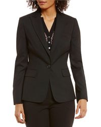 Jones New York - Washable Suiting One Button Notched Peak Lapel Jacket - Lyst