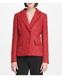 Donna Karan - New York Metallic Boucle Tweed Jacket - Lyst