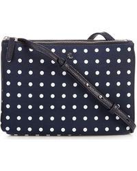 Lauren by Ralph Lauren Carter Nylon Polka Dot Crossbody Bag - Blue