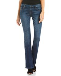 Guess - Tailored Mini Bootcut Jeans - Lyst