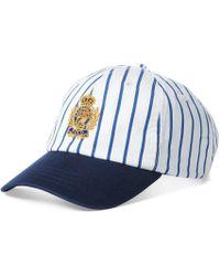 17a13d886 Polo Ralph Lauren Stretch Denim Baseball Cap in Black for Men - Lyst