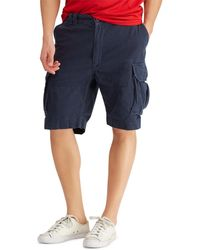 Polo Ralph Lauren Big Tall Relaxed-fit Classic Cargo 10 Inseam Shorts - Blue
