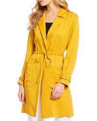 Gianni Bini Maeve Tie Waist Soft Jacket - Yellow