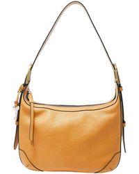 Fossil Hannah Leather Zip Hobo Bag - Metallic