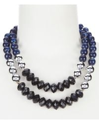 Dillard's - Beaded Frontal Necklace - Lyst