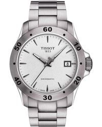 Tissot - V8 Men's Silver Stainless Steel Mechanical Automatic Watch - Lyst
