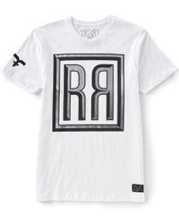 Rock Revival - Short-sleeve Framed Silver R's T-shirt - Lyst
