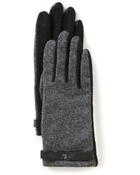 Lauren by Ralph Lauren - Herringbone Touch Gloves - Lyst