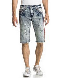 "Rock Revival Xanthos 5-pocket 23"" Outseam Denim Jean Shorts - Blue"